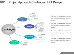 Project Approach Challenges Ppt Design
