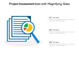 Project Assessment Icon With Magnifying Glass