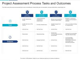Project Assessment Process Tasks And Outcomes Analyzing Performing Stakeholder Assessment