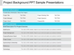 Project Background Ppt Sample Presentations