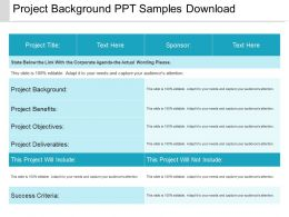 Project Background Ppt Samples Download