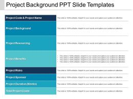 Project Background Ppt Slide Templates
