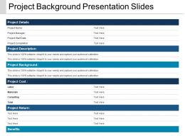 Project Background Presentation Slides