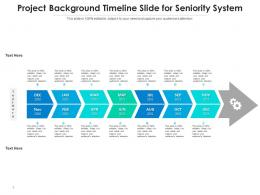 Project Background Timeline Slide For Seniority System Infographic Template