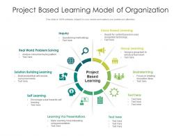 Project Based Learning Model Of Organization