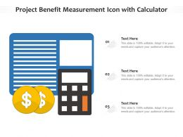Project Benefit Measurement Icon With Calculator