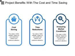 Project Benefits With The Cost And Time Saving