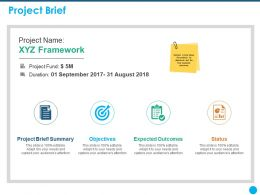Project Brief Expected Outcomes Ppt Powerpoint Presentation Example 2015