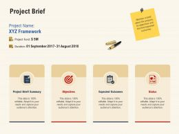 Project Brief Expected Outcomes Ppt Powerpoint Presentation Model