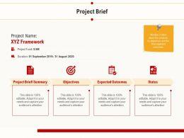 Project Brief Expected Outcomes Ppt Powerpoint Presentation Professional