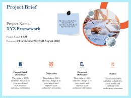 Project Brief Framework Ppt Powerpoint Presentation Outline Ideas