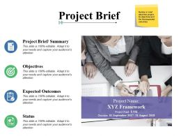 Project Brief Objectives Expected Outcomes Ppt Powerpoint Presentation File Styles