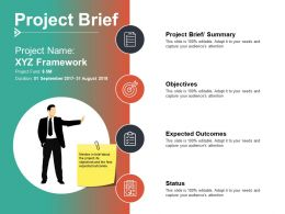 Project Brief Objectives Ppt Summary Example Introduction