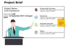 Project Brief Ppt Powerpoint Presentation Gallery Good