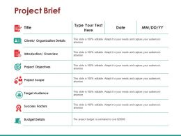 Project Brief Ppt Slide Show