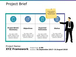 Project Brief Ppt Slide Template