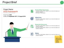 Project Brief Ppt Summary Vector