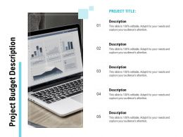 Project Budget Description Ppt Powerpoint Presentation Infographics Vector