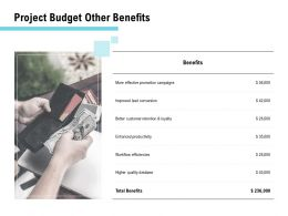 Project Budget Other Benefits Ppt Powerpoint Presentation Portfolio Graphic Tips