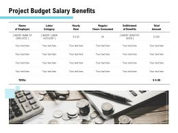 Project Budget Salary Benefits Ppt Powerpoint Presentation Inspiration Images