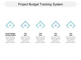 Project Budget Tracking System Ppt Powerpoint Presentation Ideas Inspiration Cpb