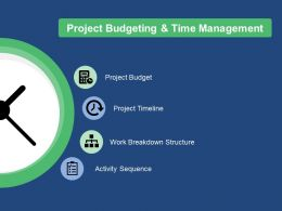 Project Budgeting And Time Management Ppt Infographics Introduction
