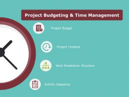 Project Budgeting And Time Management Ppt Powerpoint Presentation Gallery Graphics