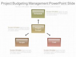Project Budgeting Management Powerpoint Slide