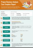 Project Business Analysis Case Template Report Presentation Infographic PPT PDF Document