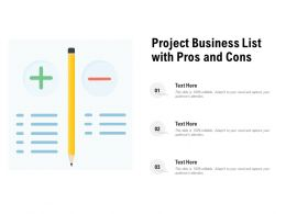 Project Business List With Pros And Cons