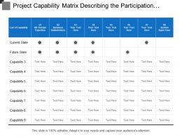 Project Capability Matrix Describing The Participation Of Employs At Different Stages
