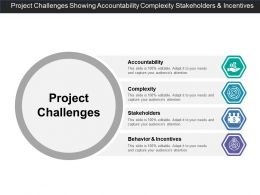Project Challenges Showing Accountability Complexity Stakeholders And Incentives