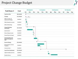 Project Change Budget Ppt Examples Slides