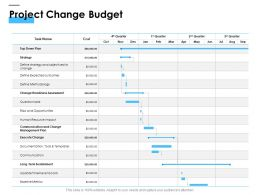 Project Change Budget Ppt Powerpoint Presentation Model Graphics