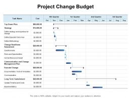 Project Change Budget Ppt Powerpoint Presentation Show Outline