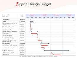 Project Change Budget Ppt Powerpoint Presentation Summary Maker