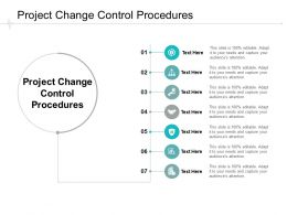Project Change Control Procedures Ppt Powerpoint Presentation Summary Inspiration Cpb