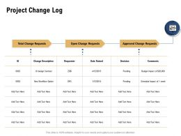 Project Change Log Date Raised Ppt Powerpoint Presentation File Icon