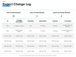 Project Change Log Ppt Powerpoint Presentation Ideas Guidelines