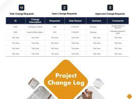 Project Change Log Ppt Powerpoint Presentation Infographic