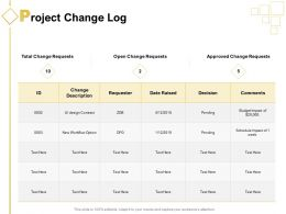 Project Change Log Ppt Powerpoint Presentation Pictures Clipart Images