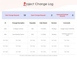 Project Change Log Ppt Powerpoint Presentation Summary Ideas
