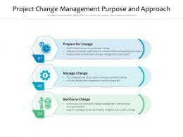 Project Change Management Purpose And Approach