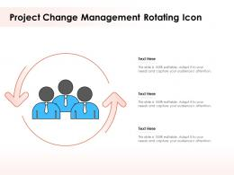 Project Change Management Rotating Icon
