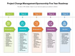 Project Change Management Sponsorship Five Year Roadmap