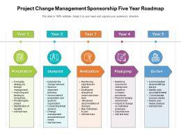 Project Change Management Sponsorship Five Year Roadmap