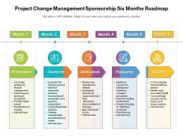 Project Change Management Sponsorship Six Months Roadmap