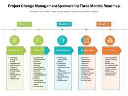 Project Change Management Sponsorship Three Months Roadmap