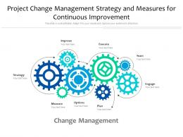Project Change Management Strategy And Measures For Continuous Improvement