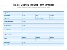 Project Change Request Form Template